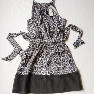 Express NWT Leopard Print Dress Sleeveless S